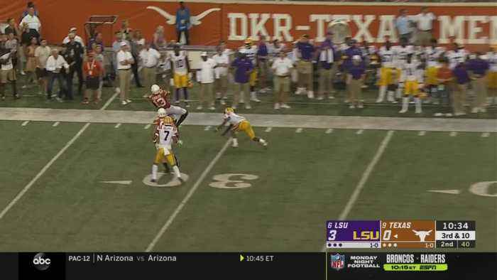 09/07/2019 LSU vs Texas Football Highlights