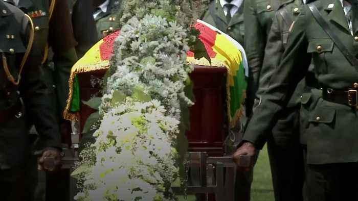 Former Zimbabwe leader Mugabe honoured at state funeral