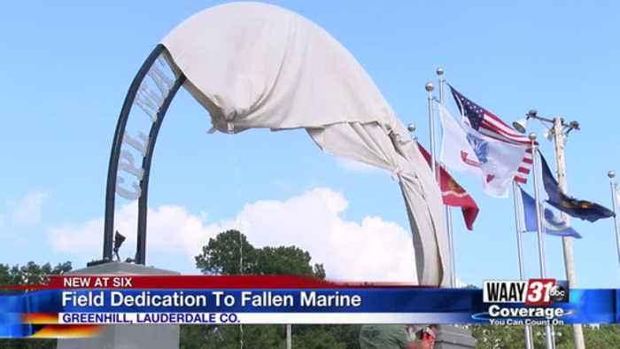 Field Dedication To Fallen Marine
