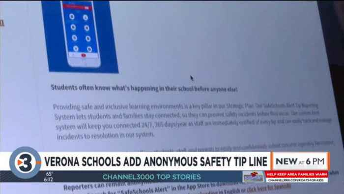 Verona Area School District implements new anonymous safety tip line