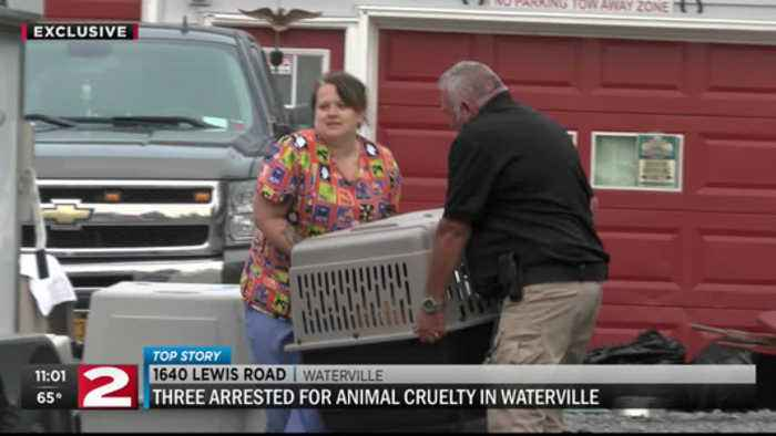 3 arrested on animal abuse charges at a Waterville animal shelter
