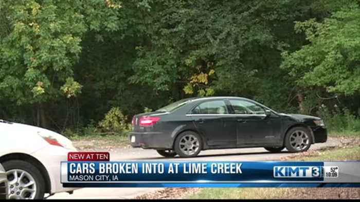 Car burglaries at Lime Creek Nature Center