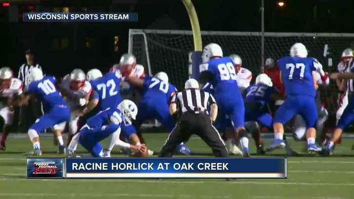 Friday night football: Racine Horlick at Oak Creek