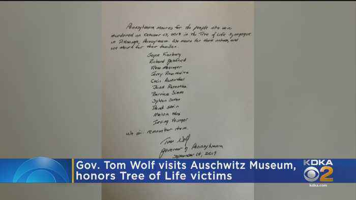Pa. Gov. Tom Wolf Visits Auschwitz Museum, Honors Tree Of Life Victims