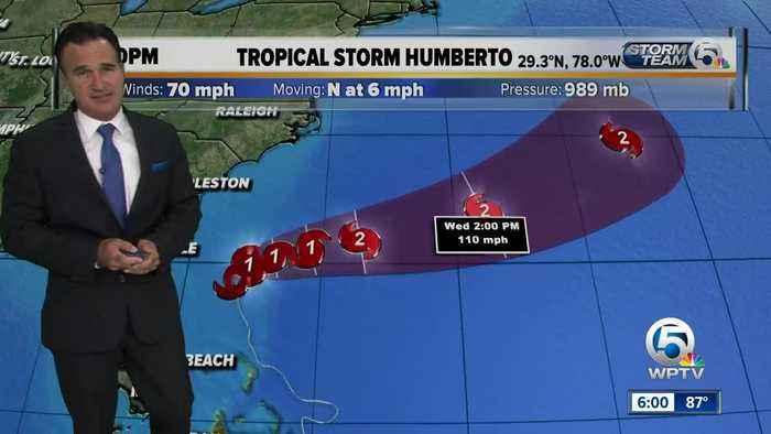 Tropical Storm Humberto update 9/15/19