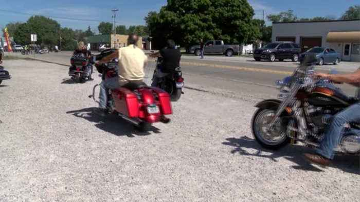 Motorcycle benefit ride held in honor of Glenn Rightsell
