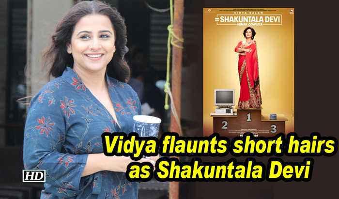 Vidya sports short hair as Shakuntala Devi