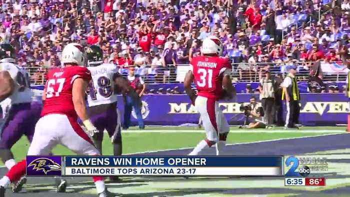 Lamar Jackson helps Ravens run over Cardinals 23-17