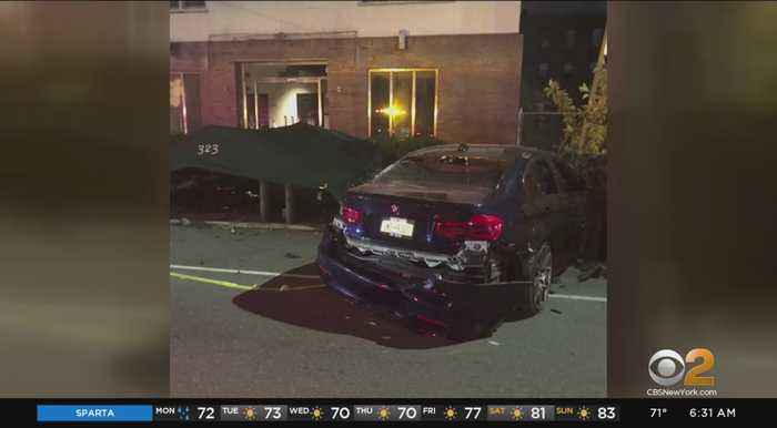 Search For Driver Who Crashed Into Brooklyn Funeral Home And Ran
