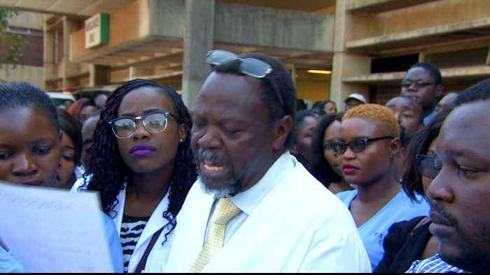 Zimbabwe: Doctors protest against abduction of their union leader