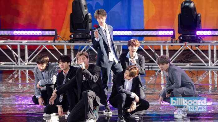 BTS Return to Work After Month-Long Break | Billboard News