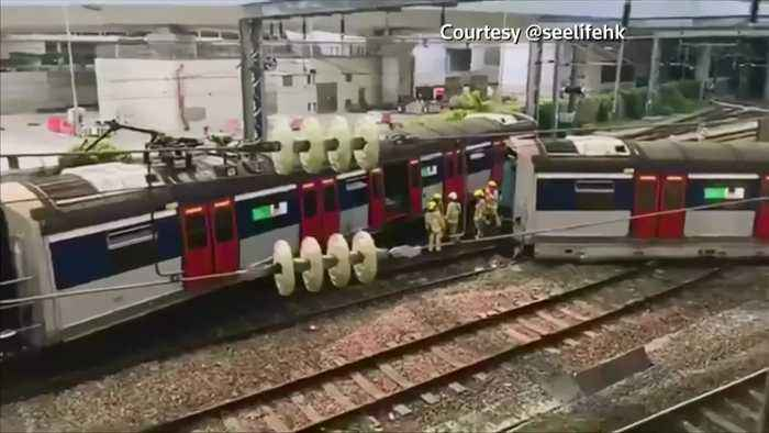 Train derailment in Hong Kong causes commuter chaos