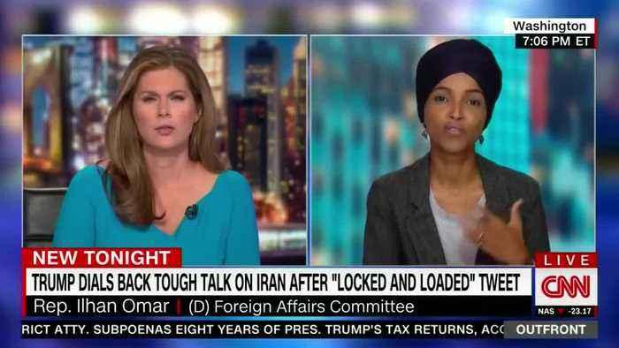 Ilhan Omar slams Trump over threats to Iran