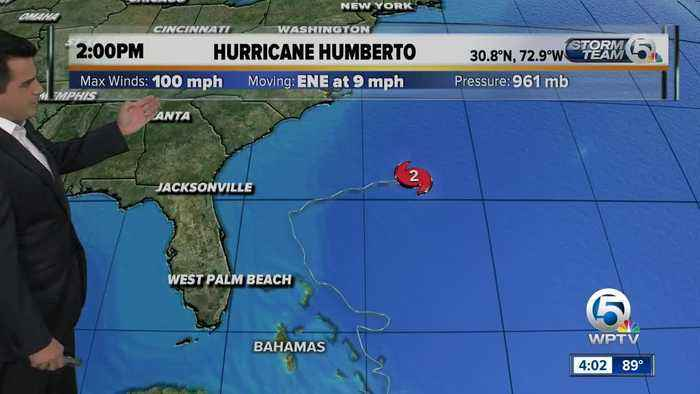 Humberto 2 p.m. Tuesday update