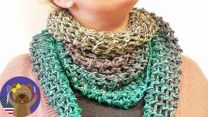 Spring Crochet Project | Triangle Scarf | Bobbel Cotton Xtra from Woolly Hugs