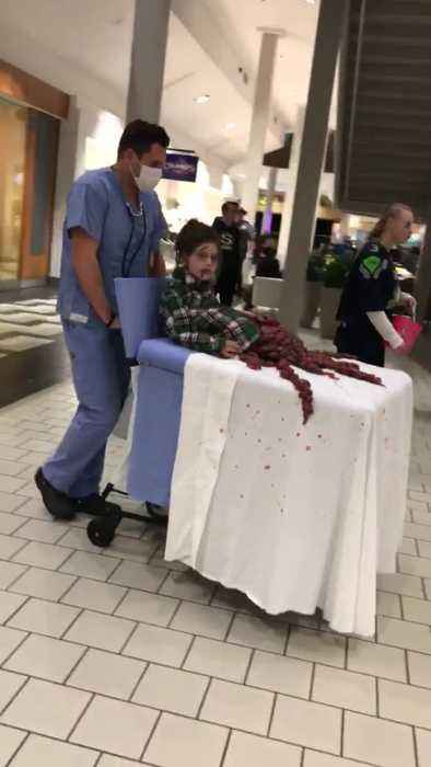 Father & Daughter Duo Pull Off Disturbing Halloween Costume