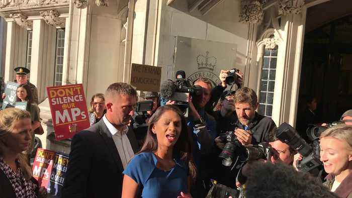 Gina Miller arrives at Supreme Court for appeal over Boris Johnson's suspension of Parliament