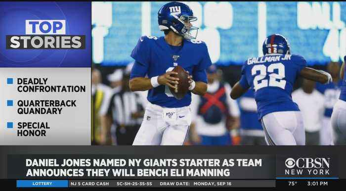 Giants Bench Eli Manning; Jets Backup QB Out For The Season