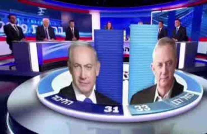 Exit polls show Israel election too close to call