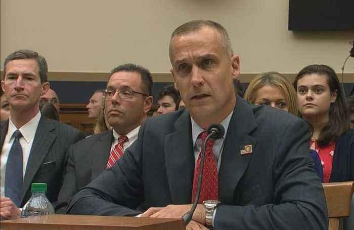 Ex-campaign chief defends Trump at impeachment hearing