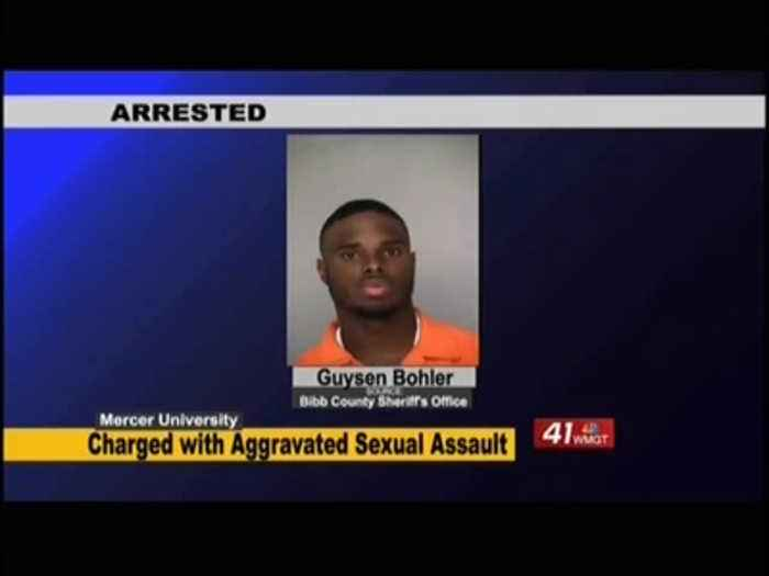 Mercer University defensive back charged with aggravated sexual assault