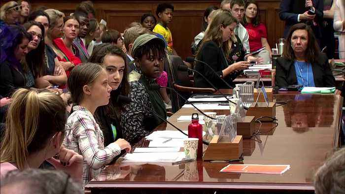 """Thunberg tells lawmakers, """"listen to the science."""""""