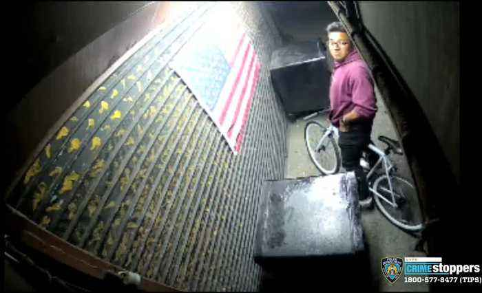 Suspect Caught On Camera Burning American Flag Outside Greenwich Village Business