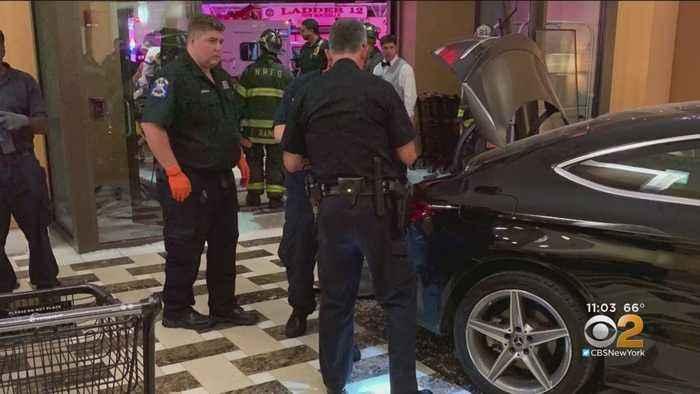 Car Slams Into Trump Plaza New Rochelle