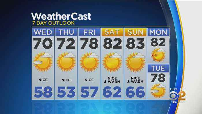 New York Weather: CBS2 9/17 Nightly Forecast at 11PM