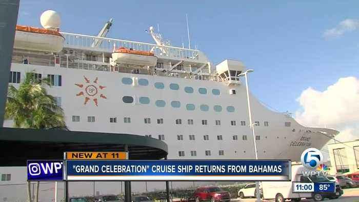 Grand Celebration cruise ship returns after Bahamas humanitarian mission