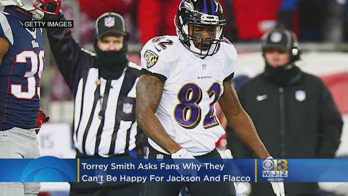 Torrey Smith Asks Ravens Fans Why They Can't Be Happy For Both Lamar Jackson, Joe Flacco