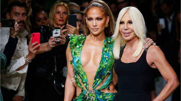 Jennifer Lopez: Versace Milan Show In That Dress
