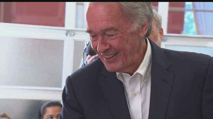 Sen. Markey Welcomes Joe Kennedy To Campaign Trail