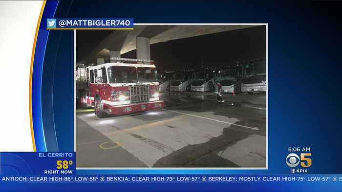 Fire Breaks Out Near San Francisco Homeless Encampment, Tech Bus Parking Lot