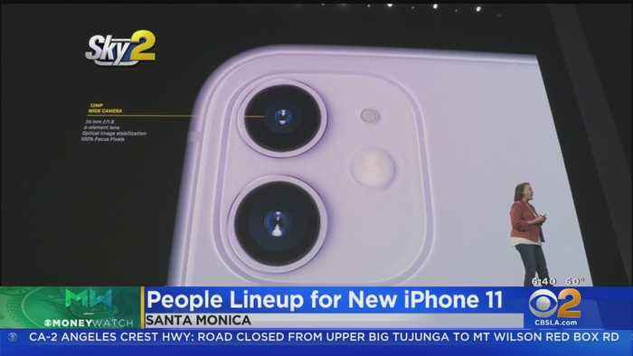 Apple Fans Camped Out To Be First To Get New iPhone