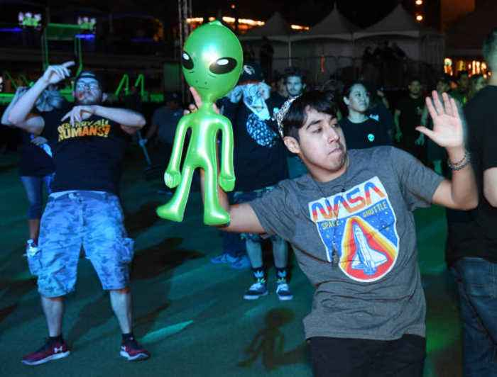 Dozens Turn Up to 'Storm Area 51'
