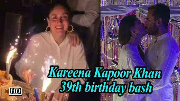 Kareena Kapoor Khan 39th birthday bash | 'Saif-eena' shares intimate kiss