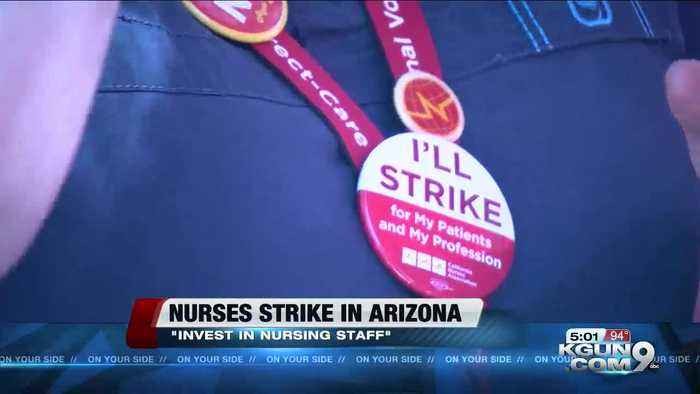 Arizona's first registered nurses strike in its history