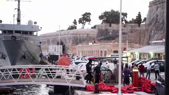 Ocean Viking migrants disembark in Malta, but others remain onboard