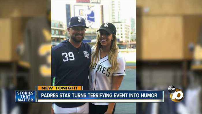 Padres star turns terrifying event into comedy for a cause