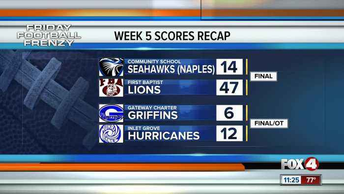 Week 5 Final Scores and Highlights High School Football Southwest Florida