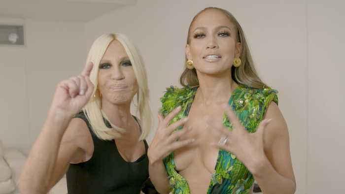 Watch Jennifer Lopez Tell the Story of Her Green Versace Dress