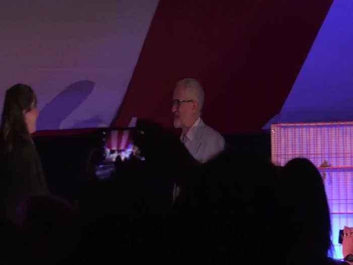 Corbyn addresses activists at Labour conference fringe event