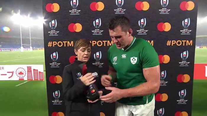 CJ Stander wins Mastercard Player of the Match against Scotland