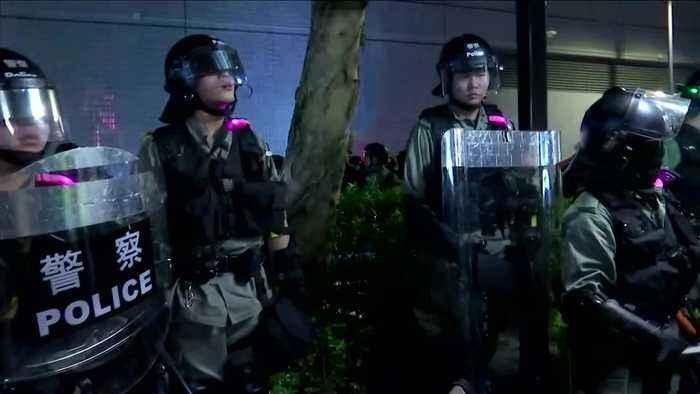 Hong Kong police detain pro-democracy protesters