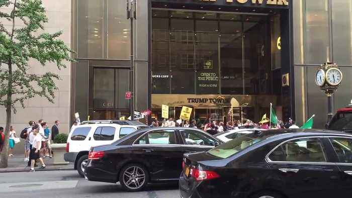 September 2015 NYC Trump Tower protest