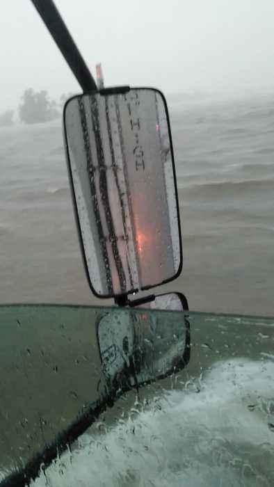 Flooding Fills Texas Highway