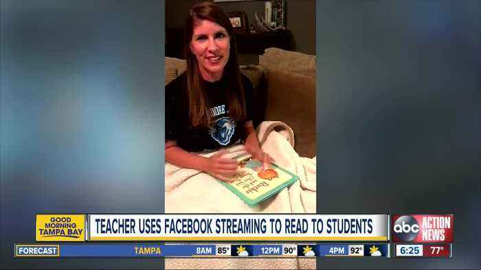 Teachers uses Facebook streaming to read to students