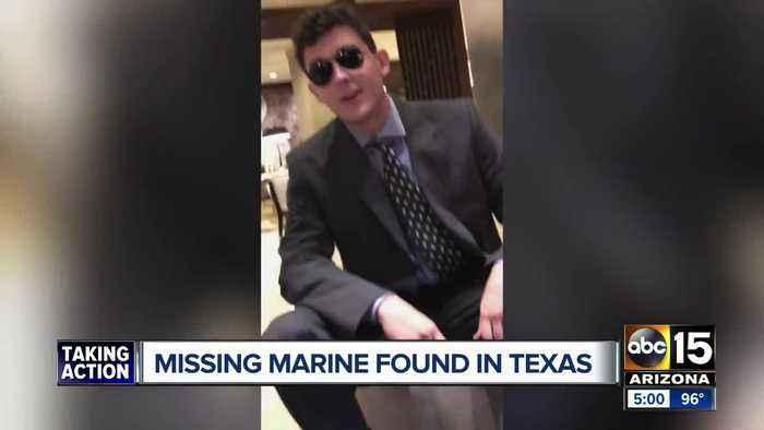 Missing Arizona Marine found safe in Texas