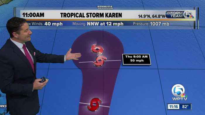 Three tropical storms in the Atlantic